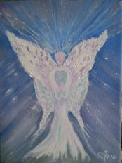 A Natures Angel, I painted this for my Granddaughters room..